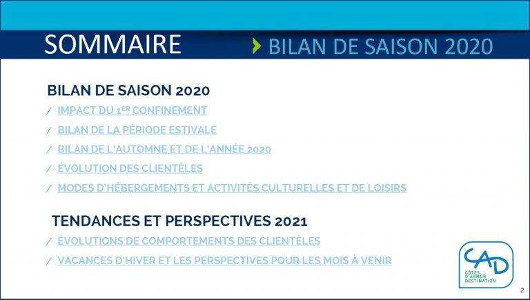 Bilan de saison touristique Côtes d'Armor Desrtination