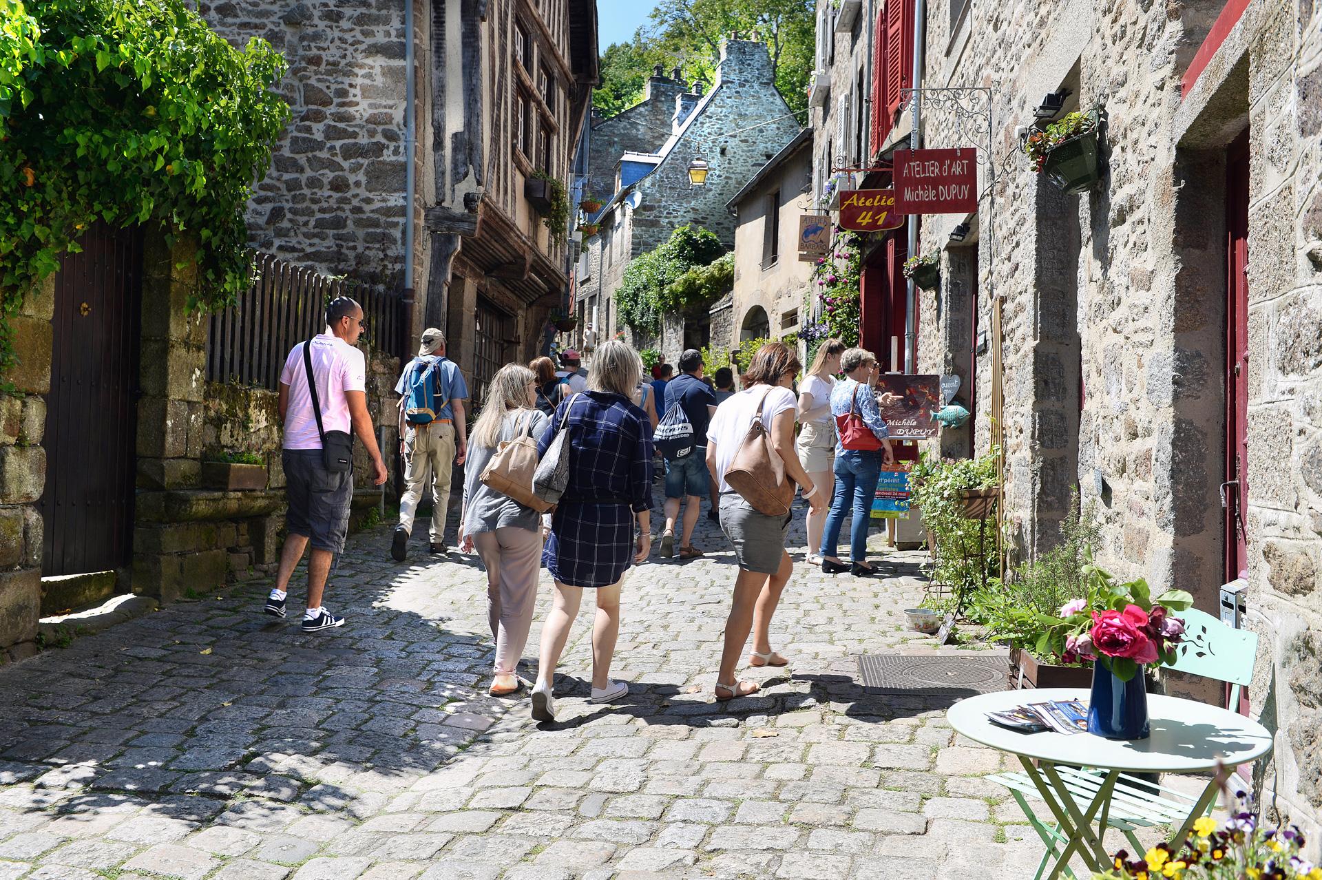 Flux touristique - Centre historique de Dinan