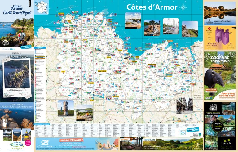 Carte touristique des Côtes d'Armor