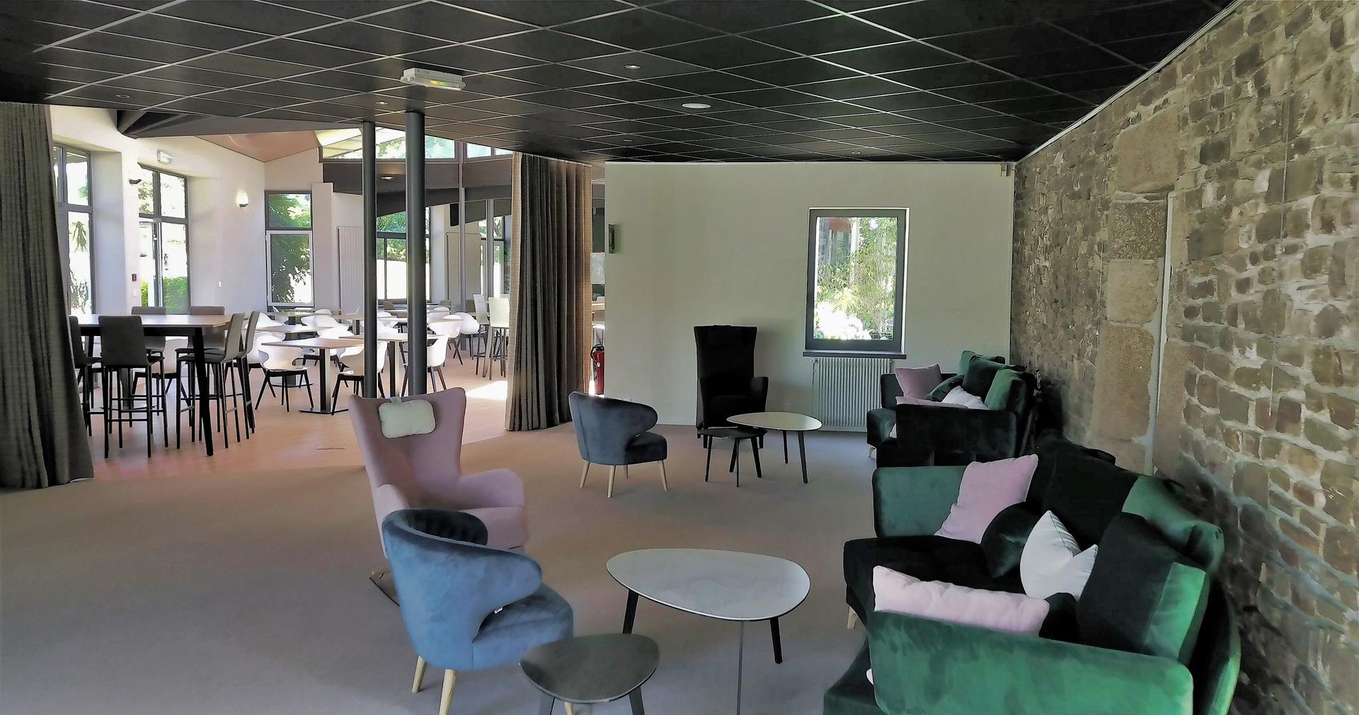 Salon du Le Breizh Ecolodge Hôtel Le Keréden