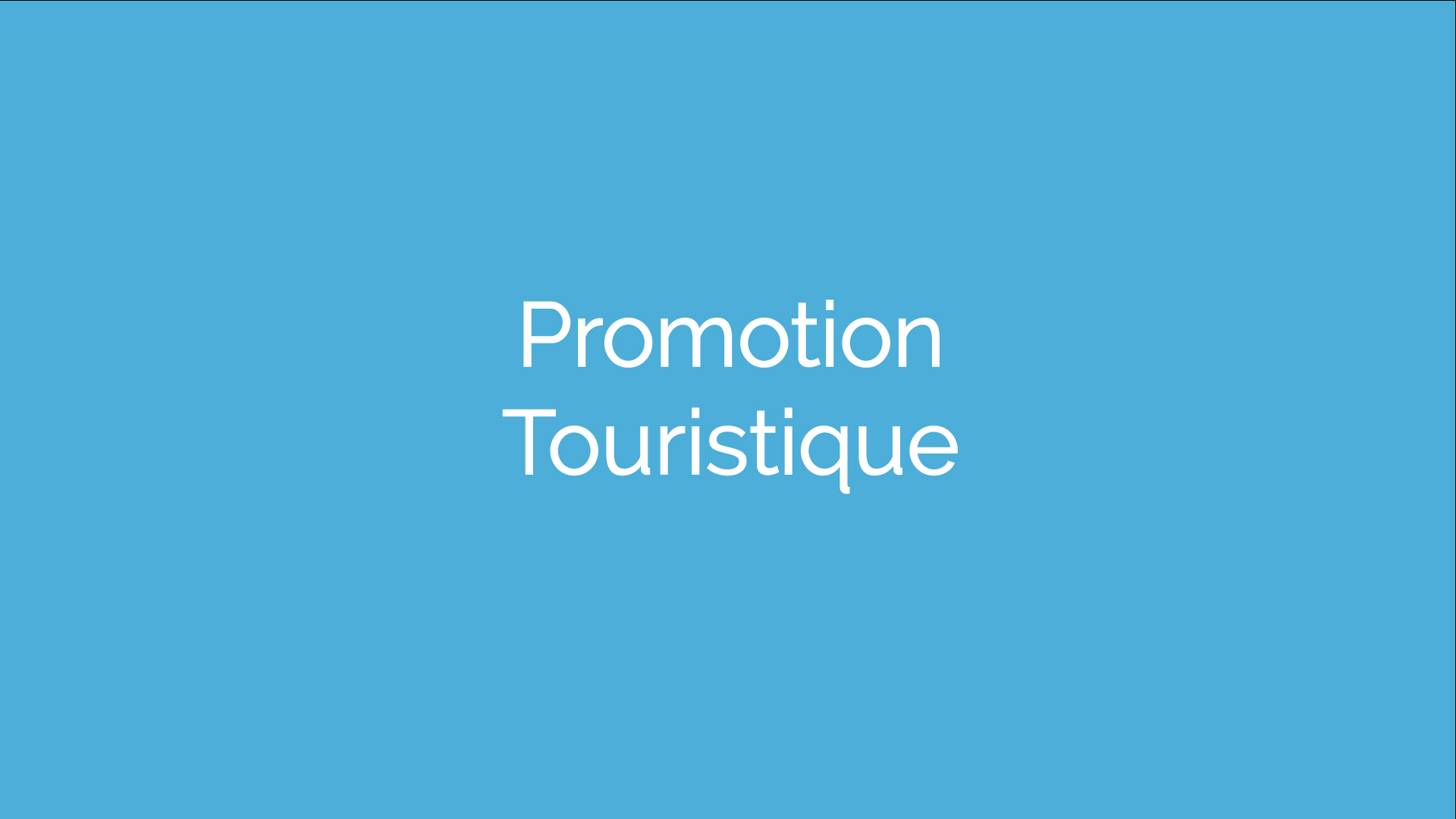 Promotion touristique
