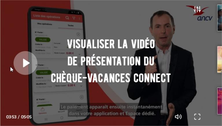 Le Chèque-Vacances Connect ANCV