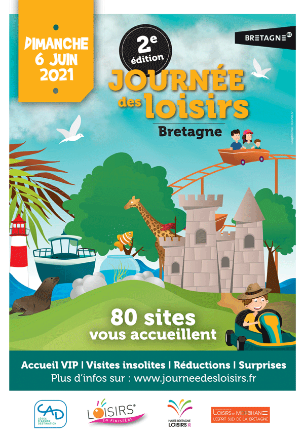 Affiche Journée des loisirs en Côtes d'Armor 2021