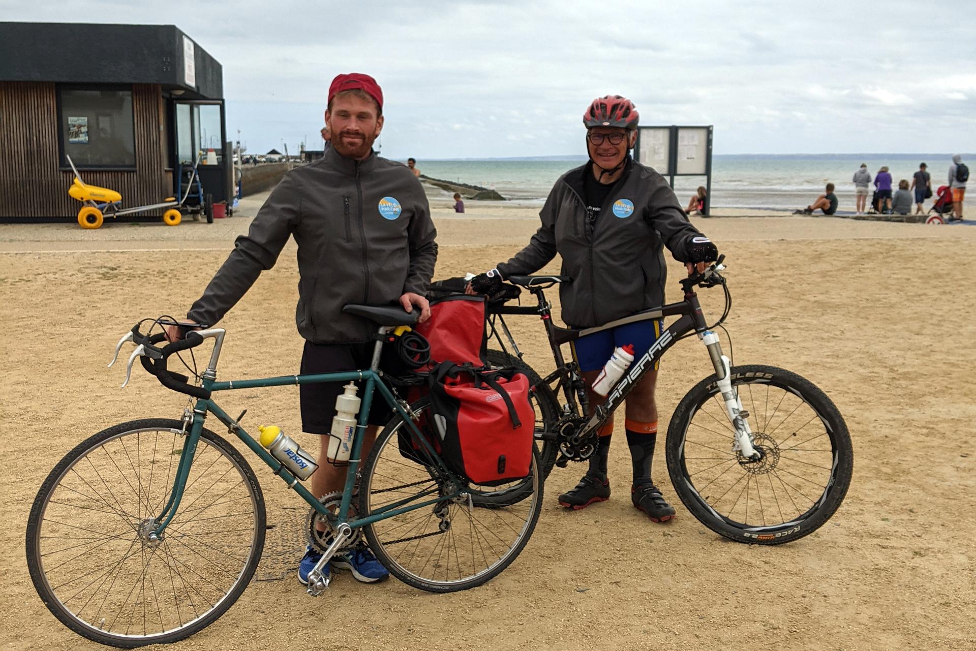 Thierry et Guillaume, Ambassadeurs de la Vélomaritime EV4